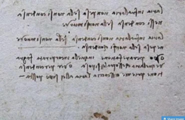 Da Vinci lost fragment
