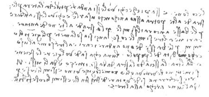 Da Vinci Handwriting