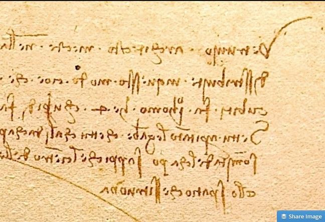 Da Vinci's Mirror writing