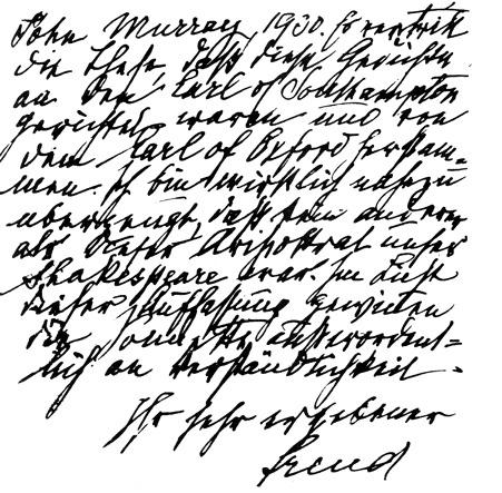 Freud's handwriting