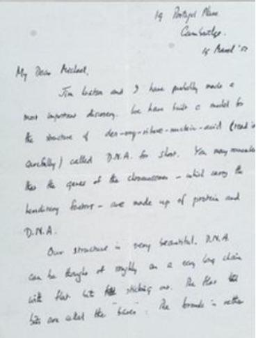 Francis Crick letter