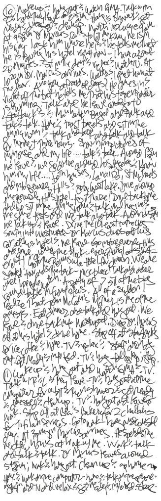 Handwriting of Jill Price - Amazing memory