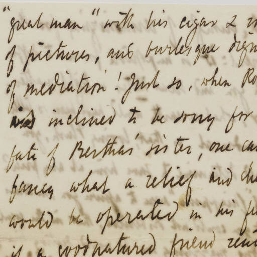 Handwriting of Robert Browning
