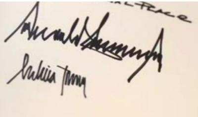 Trump Melania signatures