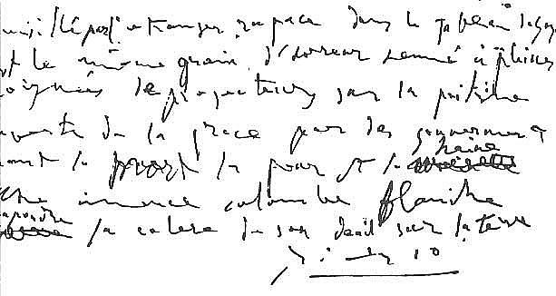 Picasso's handwriting