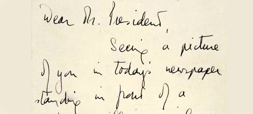 Queen Elizabeth's handwriting