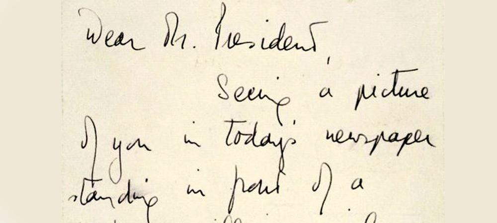 Queen Elizabeth's handwriting