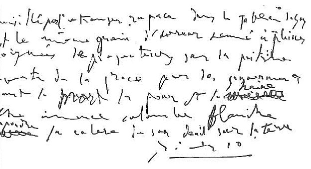 Picasso's handwriting