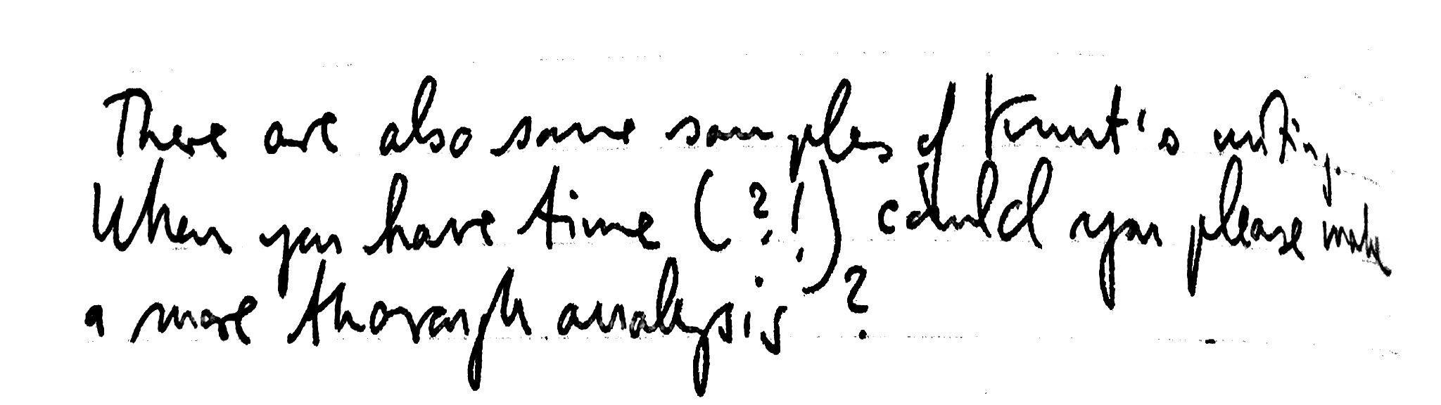 irritation in handwriting