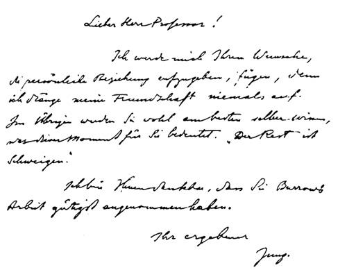 Jung Handwriting